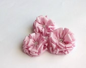 Pink Fabric Flowers Embellishment