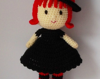 Jennet the Witch, doll, crochet, toy