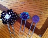 TRIO bookmarks-planner clips PURPLE