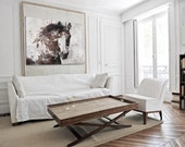 "SALE Gorgeous Horse. Large Brown Rustic Horse Canvas Art Print up to 72"" , Rustic  Canvas horse wall decor, horse art print by Irena Orlov"