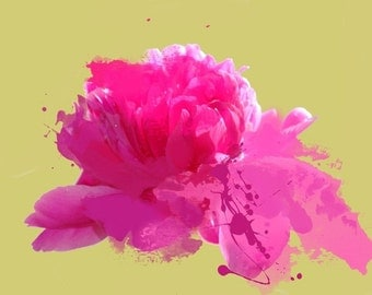 """Gentle Touch. Floral Painting, Pink Abstract Art, Wall Decor, Large Abstract Colorful Contemporary Canvas Art Print up to 72"""" by Irena Orlov"""