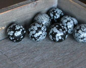 Snowflake Obsidian Stone Sphere 20 mm S100