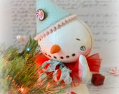 "Little Snowman - ooak 9"" art doll"