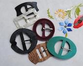 Selection of 6 Art Deco belt buckles - 1920's/1930's - bakelite lucite casein