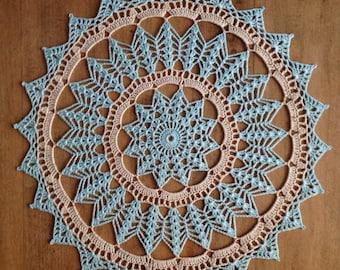 Doily Table Linen  Placemat Centerpiece Doily  Home Decoration  Crochet Fiber Art Wedding Gift