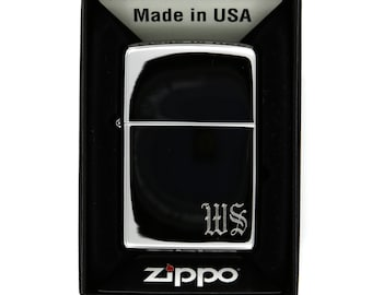 Front and Back Side Monogrammed Personalized Classic Zippo Lighter