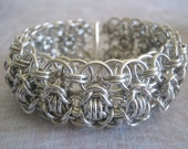 Warrior Princess Bracelet Chain Maille Aluminum Cuff