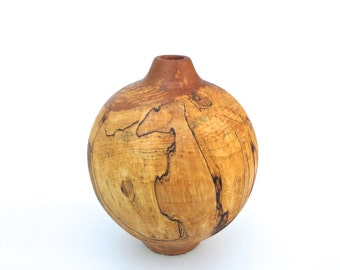 Spalted Turned Wood Vase
