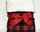 Buffalo plaid blanket- baby boy blankets- plaid baby blankets- crib blanket- new baby gifts- rustic baby- woodland baby- fleece baby blanket