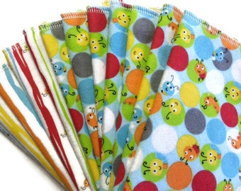 Flannel Baby Wipes - Diaper Wipes - Baby Wash Cloth Set - Family Wipes - Washable Wipes - Cloth Wipes - Cotton Wash Cloth - Baby Girl - Boy