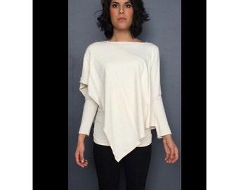 Poncho Bamboo Organic French Terry Yoga Poncho Sweatshirt Shirt for Women