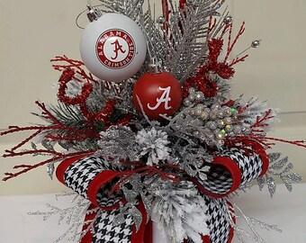 Wreath,Bama Wreath Box,Roll Tide Roll Table Decor,Bama Tailgate Party Gift,Small Bama Centerpiece,Bama Gift Box,