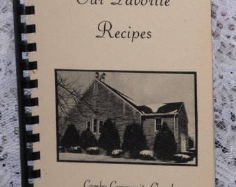 Camby Community Church Cookbook Our Favorite Recipes Indiana Vintage