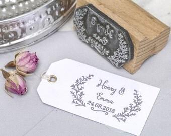 Wedding Favour Stamp Botanical