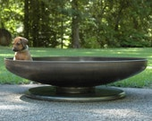 """Firepit 42"""" Fire Pit Shallow Low Rider Pedestal Base-metal fire pit fire pits fire pit bowl fire bowl fire pit cover"""
