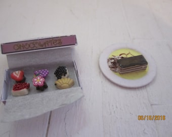 Darling Miniature Candies and a Eclair    Free Shipping