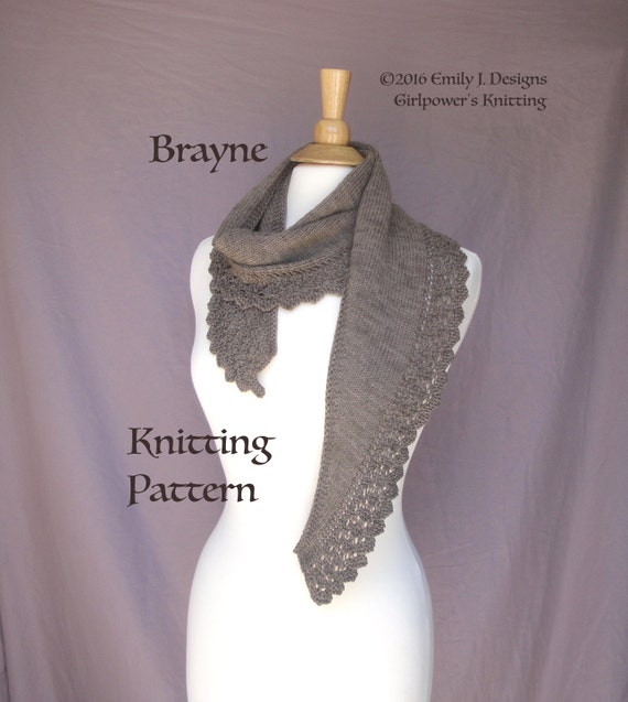 Knitting Easy Pattern Scarf Neck Warmer : Knit Lace Scarf Knitting Pattern Neck Wrap Shoulder Warmer