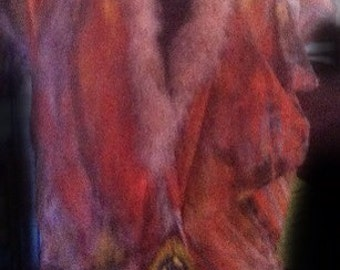 SALE--Hand Dyed Silk Kimono Jacket