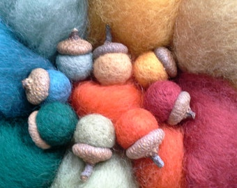 "NEW ""SECRET"" Garden Sampler-Needle Felting Wool -Wet Felting Wool"