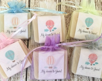 Whimsical Hot Air Balloon Soap Favors Baby Shower