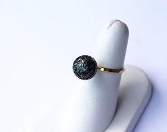 Kakau Tahitian Pearl Ring