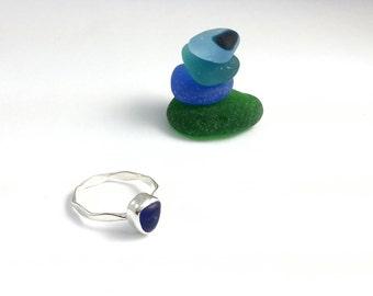 Sea Glass Ring, Sea Glass Stacker Ring, Beach Glass, Sea Glass Jewelry, Beach Wedding, Ocean  Jewelry