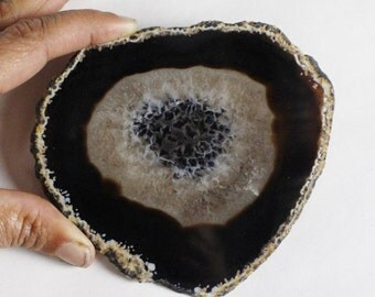"Multipack 4-5"" Agate Slices BROWN BLACK colors polished thin slabs natural gemstone rock stone mineral specimen"