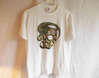 Vintage Gator Grip Jerzees Tee Shirt Size L
