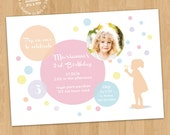 Dream Bubbles Birthday Party (Photo) Invitation Digital Printable or Prints, ANY Age ANY Colors any wording