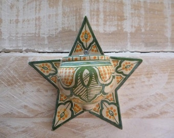 Hand Painted Islamic Wall Pocket Moroccan Tile Art Signed