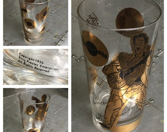 VINTAGE 1956 ELVIS PRESLEY Drinking Glass