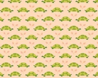 Turtle Parade Tonal (Peach) - Michael Miller Fabrics - 1 Yard