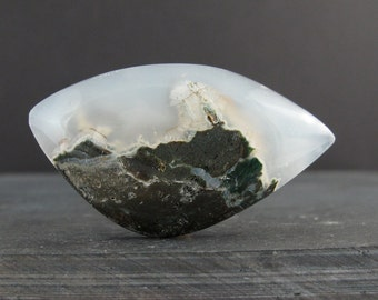 Free form Moss Agate cabochon S7040