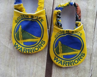 Golden State Wartiors Inspired  Cloth Baby Booties