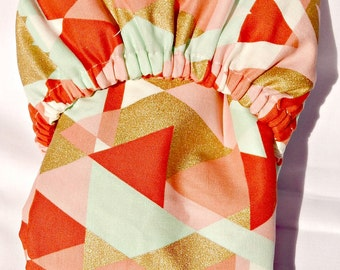 Geometeric Fitted Crib Sheet