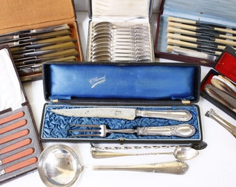 LOT of Box Sets Cutlery...Antique & Vintage Boxes...Various, see descriptoin for details...Bargain!