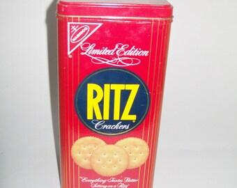 Vintage Ritz Tin Limited Edition Advertising Tin 1986