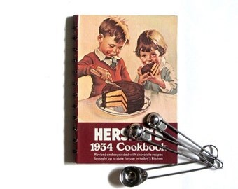 Hershey's 1934 Cookbook Spiral Bound Hardback Revised Edition Chocolate Lovers Delight 1971 Fifth Printing Gifts Under 20