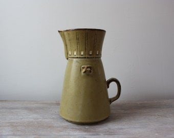 Vintage Genuine Stoneware Carafe//Pitcher