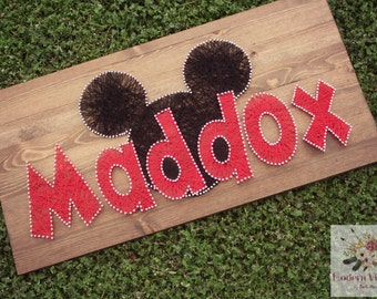 "Our ""Maddox"" Mouse String Art - 12""  x 24"""