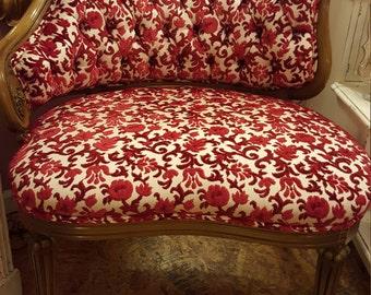 Antique French Cassandra Slipper Chair