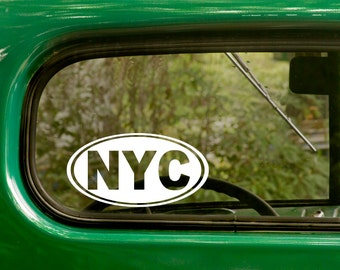 New York City Decal Sticker, NYC City Sticker , Car Decal, Laptop Sticker, Oval Sticker, Bumper, Vinyl Decal, Car Sticker