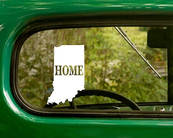 Indiana Decal, Car Decal, State Sticker, Laptop Sticker, Indiana Sticker, Bumper sticker, Vinyl Decal, Car Stickers