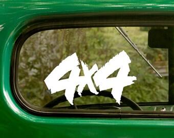 4x4 Truck Decal, Car Decal, Jeep off Road Sticker, Truck Sticker, 4x4 Decal, Laptop Sticker, 4x4 Sticker, Bumper, Vinyl Decal, Car Sticker