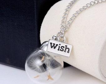 Make a wish Dandelion pendant
