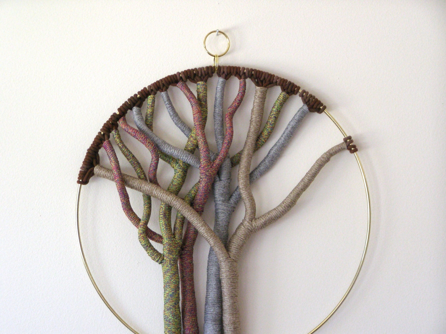 Macrame tree of life wall hanging modern home decor art for Wall hanging