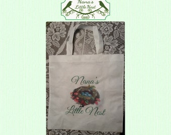 Personalized non gusseted tote bag