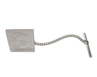 Engraved Soccer Ball Tie Tack