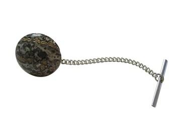 Leopard Skin Agate Gemstone Tie Tack