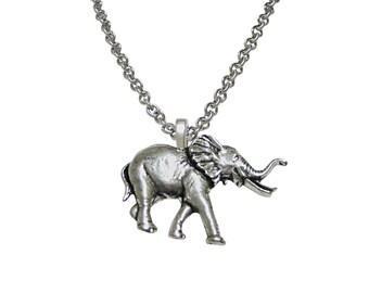 Walking Elephant Pendant Necklace